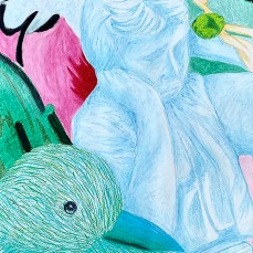 Bird in Blue-ShawntaeBrown-Oil Pastel